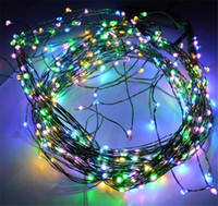 LED wire tree - 2014 LED SMD m Copper wire light string Outdoor Indoor Holiday Lights Christmas Xmas Party Tree Decor lamps Fedex
