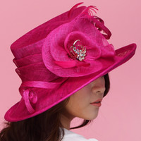 Wide Brim Hat Purple Top Hats Vintage Women Hat Sinamay Hat Church Hat Sinamay Flower Rose Red Sinamay Fabric Handmade Ladies' Haircord Sinamay Hat Sinamay Fabric Fashion