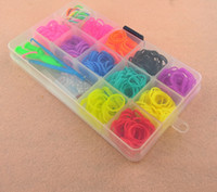 Link, Chain Bohemian Unisex Toy Gift Loom Bands Kits Fun Loom Rubber Bands Kit DIY Bracelets Colorful Children Toy Via EMS L28837