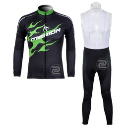 MERIDA 2014 Pro team Cycling Bike Long Sleeve cycling Jersey and Pants Bike Clothes Breathable Quick Dry cycling clothes