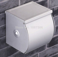 Metal toilet 9007 Free Shipping Wholesale And Retail Euro style Aluminum Wall Mounted Toilet Paper Holder Paper Roll Holder Tissue Holder w cover