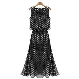 Wholesale S5Q Summer Beach Chiffon Dot Sundress Maxi Long Sexy Women Summer Boho Evening Party Dress AAADQR