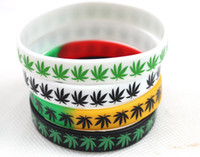 Wholesale Bob Marley Maple Leaf Wristband Silicone Bracelets for men Mix color New