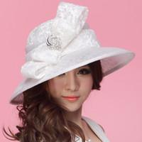 sinamay fabric - Fashion Dress Hat Women Hat Summer Hat Sinamay Hat Church Hat Sinamay Rose Sinamay Fabric Lace Bow Sinamay Hat Fashion Hat White Wide Brim