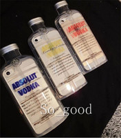 TPU absolut cover - 3D Transparent ABSOLUT VODKA Wine beer Bottle design TPU Phone case cover for Iphone s s g plus