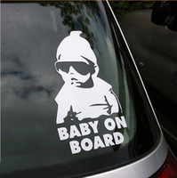 Wholesale Freeshipping Cool Baby on Board Car Sticker Motorcycle Sticker Vinyl Decal Waterproof Reflective Wall Stickers Car Styling