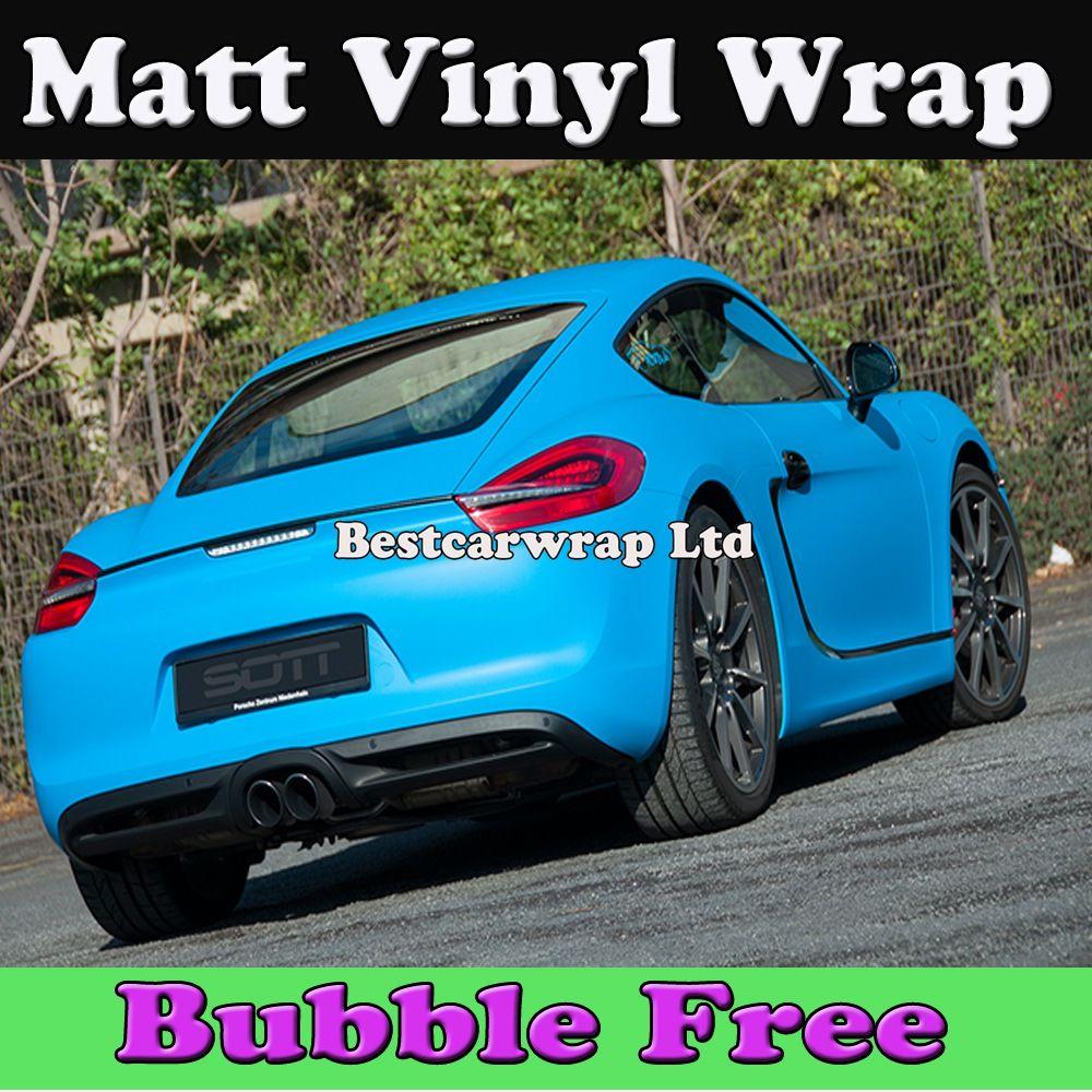 Blue car sticker design - 2017 Matte Vinyl Blue For Car Wrap With Air Bubble Free Matt Blue Foile For Vehicle Car Stickers 1 52x30m Roll 5x98ft From Bestcarwrap 150 52 Dhgate Com
