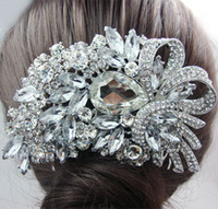 Wedding Hair Jewelry Alloy, Austrian Crystal,Rhinestone Clear Wholesale-Bridal Hair Accessories Flower Bouquet Clear Rhinestone Crystal Wedding Bridal Flower Jewelry
