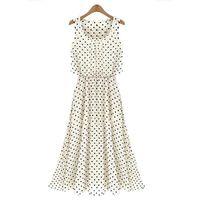Casual Dresses Bohemian Dresses Summer S5Q Summer Beach Chiffon Dot Sundress Maxi Long Sexy Women Summer Boho Evening Party Dress AAADQR