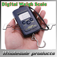 Cheap Promotion,Digital Hanging Luggage Fishing Weight Scale retail 20g-40Kg wholesale 100pcs lot free shipping by DHL Fedex