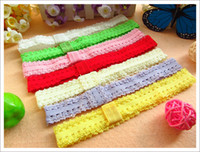 Wholesale 120pcs baby receiving headband lace elastic hairband for flower hair ribbon hair holder for baby girl hair accessories