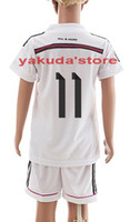 toddler jerseys - 2014 Customized Home Soccer Jerseys for Kids Bale White Soccer Jersey High Quality Youth Soccer Wear Cheap Children Toddler Soccer