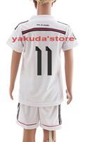 Soccer toddler jerseys - 2014 Customized Home Soccer Jerseys for Kids Bale White Soccer Jersey High Quality Youth Soccer Wear Cheap Children Toddler Soccer