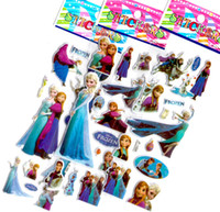 Wholesale Cartoon frozen sticker elsa anna party decoration classic toys for children baby toys new for kids girls gift