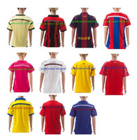 Soccer football set - 14 Season Club Teams Customized Kids Children Soccer Jerseys Sets Football Jersey With Shorts Kids Children Boys Soccer Football Jerseys