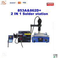 Cheap 220V desoldering station Best YIHUA 853A&862D+ Guangdong China preheating station