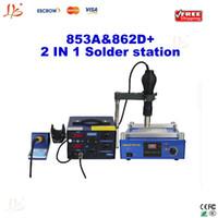 220V YIHUA 853A&862D+ Guangdong China Free shipping! Combination Of BGA desoldering station system, YIHUA 853A preheating station + YIHUA 862D+ soldering station