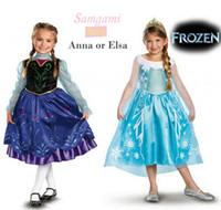 Girl Spring / Autumn Short Wholesale2014 Frozen princess Fancy Dress Cosplay Costume Frozen Snow Queen cartoon Cosplay Party Dress girls club dresses