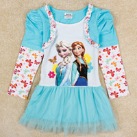 Wholesale new nova fashion fake two piece childrens dresses frozen dress girls party dress long sleeve baby winter clothing H5372Y