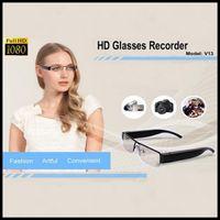 None No  Full HD 1080P Spy Eyeglass Camera Mini DVR Glass Sunglass Camera 1920*1080 30FPS V13 Support TF Card Up To 32GB