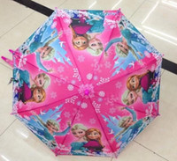 Wholesale 2014 Hot selling Frozen Umbrella Frozen Princess Elsa amp Anna Children Umbrella cm Frozen Series candy baby umbrellas