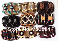 Wholesale 20PCS New Arrival Fashion Double twin Magic Hair Combs Accessories for woman Mixed designs MHC015