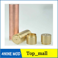 Cheap High quality 4nine mod 1:1 clone copper brass and stainless ss ecig e cigarette e cig mechanical ar stingray panzer DHL 002420