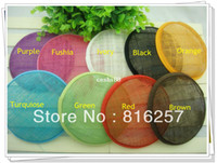 Wholesale quot cm color sinamay fascinator base sinamay hair accessories DIY hair accessories pieces MH022