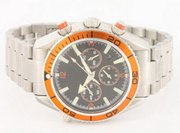Orange bezel date Orange original belt chronograph Cheap New Fashion Quartz Wristwatches men watch Luxury Stainless steel Men's Watches