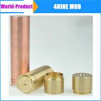 Cheap High quality 4nine mod 1:1 clone copper brass and stainless ss ecig e cigarette e cig mechanical ar stingray panzer DHL free 002420
