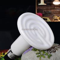 Wholesale 3Pcs W V Pet Heat Emitter Brooder Lamp Heated Reptiles Bulb White Drop Shipping TK1241