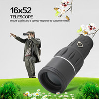 Universal 16~20 X  16X52 Zoom Sports Monocular Telescope Spotting Scope for Outdoor Traveling Hiking Camping Black