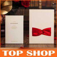 Wholesale 2014 New Wedding Invitations Bowknot Invitations Card Elegant HQ1043