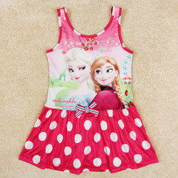 Wholesale girls frozen swimwear anna elsa frozen swimmers children swimwear polka dots girls swim skirt kids clothes R5243