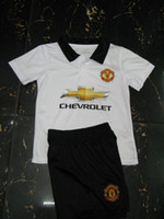 Wholesale New Season Manchester Away Jerseys for Kids Cheap Football Shirts Youth Soccer Uniforms Club Team Children Soccer Uniforms Kits