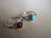 Wholesale Natural red stone Imitation antique ring Vintage Engagement Ring Lord of the rings Factory price