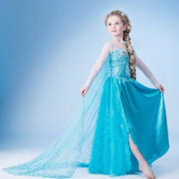 TuTu Summer A-Line Wholesale new Frozen elsa anna 2014 Children Christmas Baby Girl Princess long Sleeve party Birthday lace Tutu Sequins Dresses LY-484