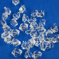 acrylic tabletops - MM MM Faux Ice cube clear Acrylic Loose beads with hole Wedding Tabletops Decoration Beads