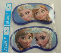 Wholesale Frozen Elsa Anna Sleep Eye Mask Children Vision Care Eye Masks Childs Boys Girls Home Eye Patch