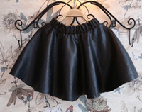 Spring / Autumn A-Line Above Knee/Mini 2014 Autumn Spring New Item Gilrs PU Skirts Hot Short Soft Elastic Kids Skirt Child Children's Casual Clothing Infants Outwear Black J1012