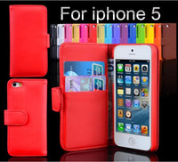 For Apple iPhone Leather  Fashion Wallet Case Flip Leather case Cover Stand with Card Holder For iPhone 5 5S