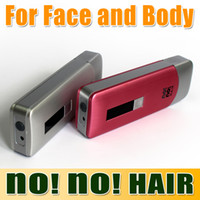 Wholesale Best Quality New no no hair smart women s hair epilator professional hair removal device for face and body Pink Silver DHL Free churchill