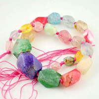 Wholesale 16 CM Colorful Faceted Drusy Druzy Agate Beads gem stone Findings
