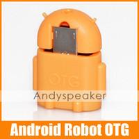 Compra Adaptador s2-Micro USB a USB OTG Adaptador Robot de Android de Forma Adaptador OTG para Samsung Galaxy S2/S3/S4 USB para Conectar un Flash/Teclado/Ratón hasta 5pcs