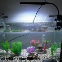 Wholesale White Blue Flexible Modes Aquariums Decoration Aquarium Fish Tank LEDs Clip Light Lighting Lamp Touch Switch V H10841