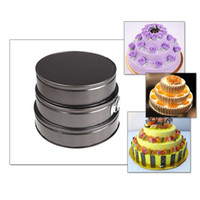 baking cake - Kitchen Accessories Versatile Set of Three Springform Pans Cake Bake Mould Mold Bakeware with Removable Bottom Round Shape H11223