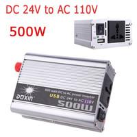 Wholesale Car Power Inverter Converter W Watt DC V to AC V USB Adapter Portable Voltage Transformer Car Chargers Power Supply K1330US