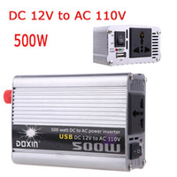 dc ac converter 12v 110v - 500W Watt Car Power Inverter Charger Converter DC V to AC V USB Adapter Portable Voltage Transformer Car Power Supply K1330US