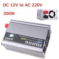 Wholesale Car Power Inverter W Watt Converter Power Supply DC V to AC V USB Adapter Portable Voltage Transformer Car Chargers K1329EU