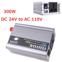 Wholesale 300W Watt Car Power Inverter Converter DC V to AC V USB Adapter Portable Voltage Transformer Car Chargers Power Supply K1329US